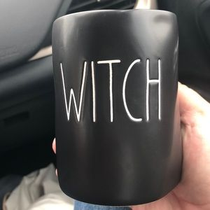 "Rae Dunn ""Witch"" Black Candle"